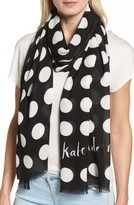 Kate Spade Women's Grid Dot Scarf