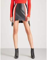 Thierry Mugler Colour block leather mini skirt