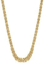 "Bloomingdale's 14K Yellow Gold Graduated Byzantine Chain Necklace, 17"" - 100% Exclusive"