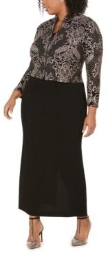 Alex Evenings Plus Size Column Gown & Jacket