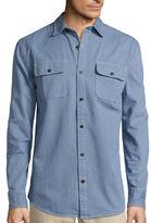 ST. JOHN'S BAY St. John's Bay Long-Sleeve Corded Denim Sport Shirt