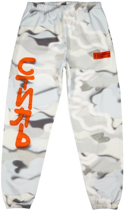 Heron Preston Camouflage-print cotton sweatpants