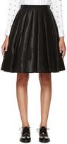 Junya Watanabe Black Satin Pleated Skirt