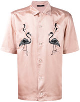 Diesel flamingo patches shortsleeved shirt - men - Polyester - S