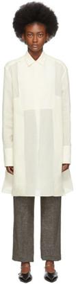 Jil Sander Off-White Classic Collar Plastron Shirt
