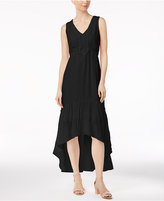 NY Collection Crochet-Trim High-Low Dress