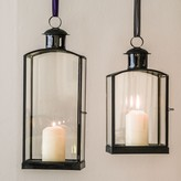 Graham and Green Black Iron And Glass Lanterns