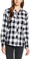Urban Classics Women's Ladies Turnup Checked Flanell Shirt