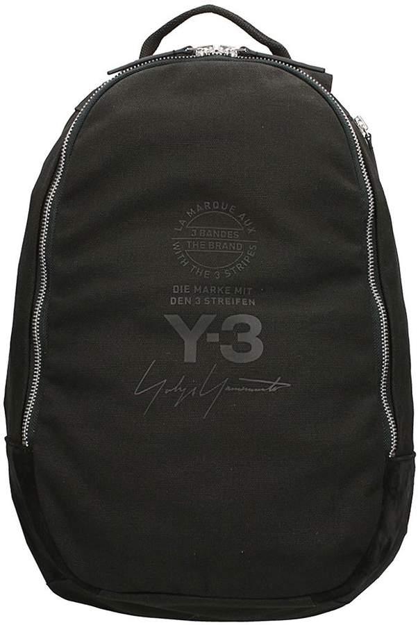 Y-3 Street Black Cotton Backpack