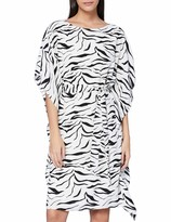 Thumbnail for your product : Gina Bacconi Women's Emelina Zebra Dress with Belt Cocktail
