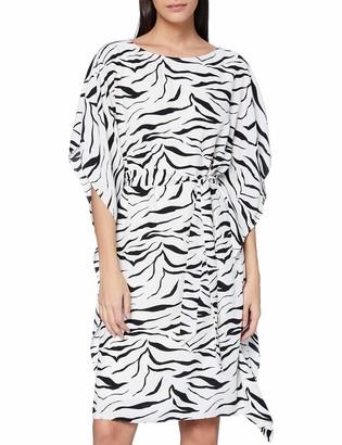 Gina Bacconi Women's Emelina Zebra Dress with Belt Cocktail