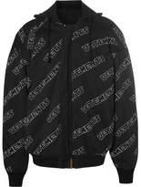 Vetements Oversized Reversible Padded Cotton Bomber Jacket