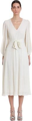 L'Autre Chose Dress In Beige Cotton