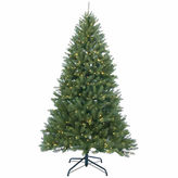Asstd National Brand 12' Pre-Lit Essex Pine Medium Artificial ChristmasTree with Clear Lights