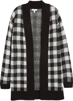BP Buffalo Check Longline Cardigan