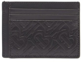 Burberry Bernie Tb-embossed Leather Cardholder - Black