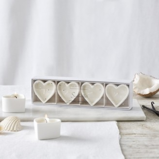 The White Company Seychelles Heart Tealights, No Colour, One Size
