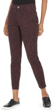Style&Co. Style & Co Petite Curvy Animal-Print Skinny Jeans, Created for Macy's
