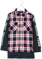 Diesel layered checked shirt