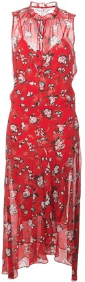 Veronica Beard Sleeveless Floral Print Dress