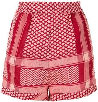 Cecilie Copenhagen patterned shorts