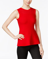 Armani Exchange Peplum Knit Top