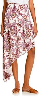 Lini Meagan Printed Asymmetric Midi Skirt - 100% Exclusive