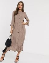 Asos Design DESIGN button through tiered smock maxi dress in spot