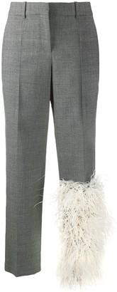 Loewe faux fur panel tailored trousers
