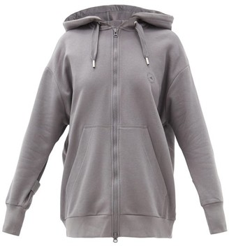adidas by Stella McCartney Oversized Cotton-blend Jersey Hooded Sweatshirt - Grey