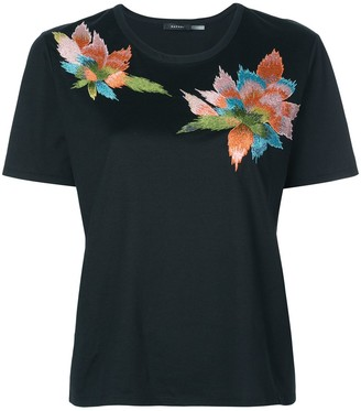Natori floral embroidered T-shirt