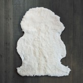 Graham and Green Curly Sheepskin Rug In Ivory