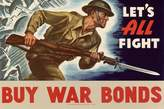 Art.com Let's All Fight Buy War Bonds WWII War Propaganda Art Print Poster Poster - 61x91 cm