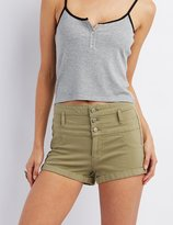 Charlotte Russe Refuge Hi-Waist Shortie Denim Shorts