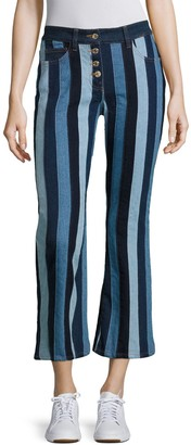 Tommy Hilfiger Patchwork Cropped Flared Pants