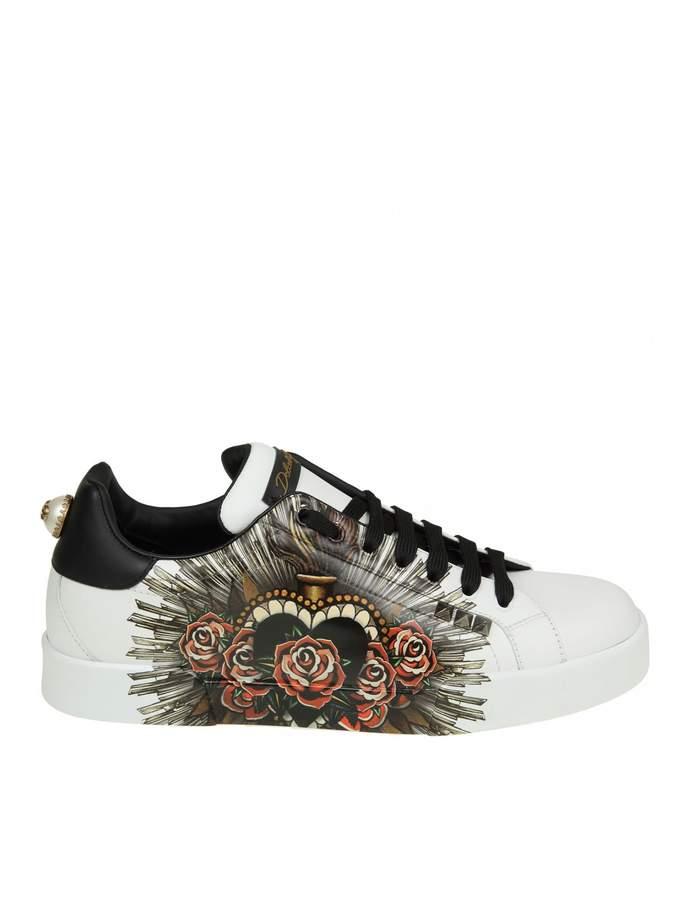 Dolce & Gabbana portofino Sneakers In Printed Calf