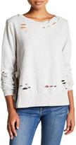 Romeo & Juliet Couture Torn Side Tie Sweatshirt