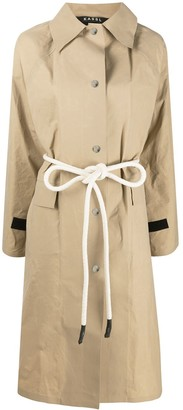 Kassl Editions Rope Belt Trench Coat