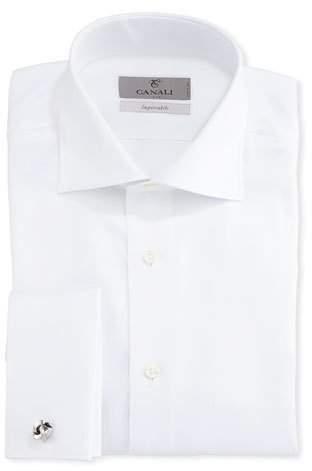 Canali Impeccabile Solid Twill Dress Shirt, White