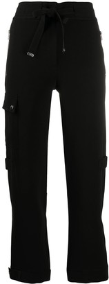 Moncler High-Waisted Straight Leg Track Pants