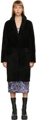 Yves Salomon Meteo Yves Salomon - Meteo Black Curly Merino Lamb Coat