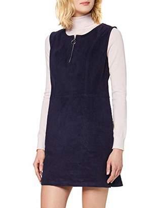 Yumi Cord Pocket Pinafore Dress With Zip Ring