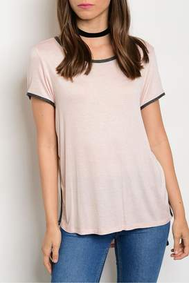 Sweet Claire Pink Charcoal Tee