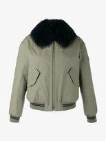 Army Yves Salomon raccoon fur-trimmed bomber jacket