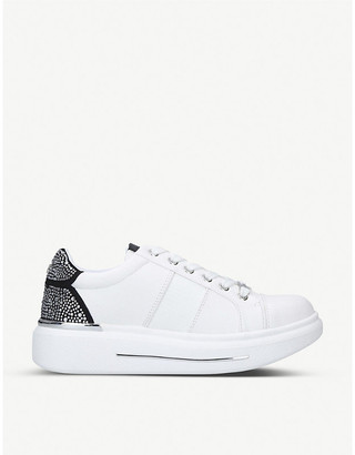 Carvela Jubilate croc-embossed faux-leather trainers