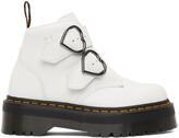 Thumbnail for your product : Dr. Martens White Devon Heart Platform Boots