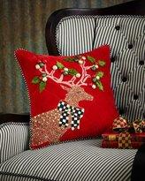 Mackenzie Childs MacKenzie-Childs Jeweled Deer Pillow