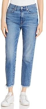 7 For All Mankind Cropped Straight Leg Jeans in Alpine Drive