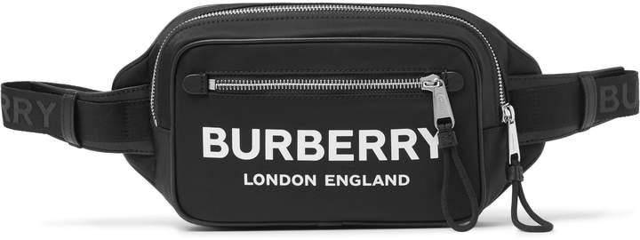 Burberry Logo-Print Nylon Belt Bag - Men - Black
