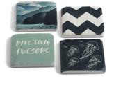 La Redoute Interieurs Ecume Set of 4 Printed Marble Coasters